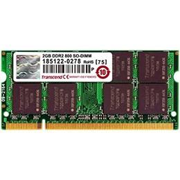 afbeelding van Transcend 2GB Laptop geheugen 200P DDR2 SODIMM(256Mx64 128M x 8/DDR2/800 5-5-