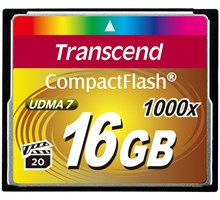 Transcend 16GB COMPACTFLASH CARD 1000x