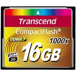 afbeelding van Transcend 16GB COMPACTFLASH CARD 1000x