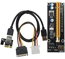 PCI Express Riser Card 1x to 16x USB 3.0 SATA to 4Pin IDE Molex