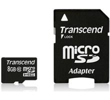 Transcend 8GB microSDHC Class10 + Adapter