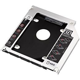 afbeelding van SATA HDD hard drive caddy voor laptop SATA bay (o.a. voor MacBook MC724)