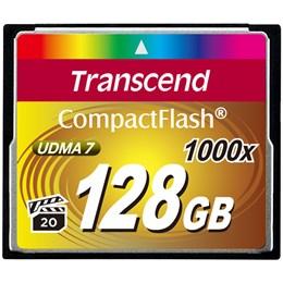 afbeelding van Transcend 128GB COMPACTFLASH CARD 1000x