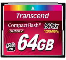 Transcend 64GB COMPACTFLASH CARD 800x