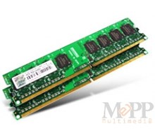 Transcend 2GB FOR DUAL CHANNEL DDR2 800 KIT.(1GB Double Rank x 2)