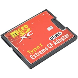 afbeelding van Micro SD naar Compact Flash Memory Card Adapter/Reader