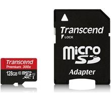 Transcend 128GB MicroSDXC Class10 U1 w/adapter