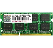 Transcend 2GB Laptop geheugen  204P DDR3 1333 SO