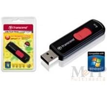Transcend 4GB JetFlash 500 USB 2.0 Zwart/Rood