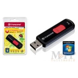 afbeelding van Transcend 4GB JetFlash 500 USB 2.0 Zwart/Rood