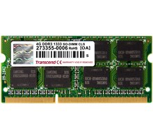 Transcend 4GB Laptop geheugen  204P DDR3 1333 SO