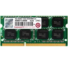 Transcend 4GB DDR3 1333 SODIMM 1.35V (2R/256Mx8/CL9)