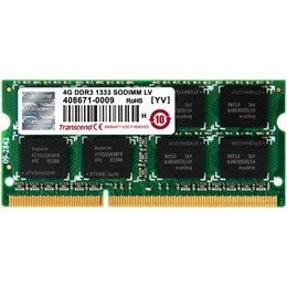 afbeelding van Transcend 4GB DDR3 1333 SODIMM 1.35V (2R/256Mx8/CL9)