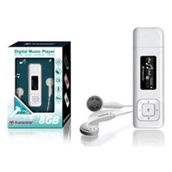 Transcend TS8GMP330 MP3-speler 8 GB Wit, FM-radio, Bevestigingsclip
