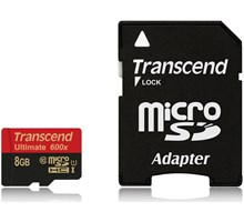 Transcend 8GB MicroSDHC Class10 UHS-I (Ultimate) + SD Adapter