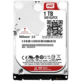 afbeelding van WD Red 1TB Intellipower 2.5 inch HDD SATA3 5400rpm 16MB