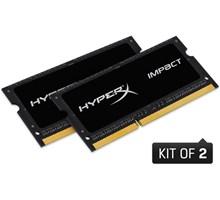 Kingston 16GB kit (2x8GB) 1866MHz DDR3L CL11 SODIMM  1.35V HyperX Impact Black