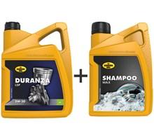 Kroon Olie aanbieding: Duranza LSP 5W30 5L + Shampoo Wax 1L