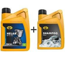 Kroon Olie aanbieding: Helar SP 5W30 5L + Shampoo Wax 1L