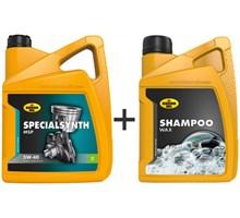 Kroon Olie aanbieding: Specialsynth MSP 5W40 5L + Shampoo Wax 1L