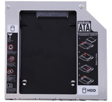 SATA HDD hard drive caddy voor laptop IDE bay, 9.5mm