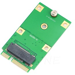 afbeelding van M.2 NGFF SSD naar Mini PCI-E mSATA Converter Adapter Card