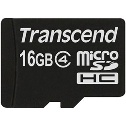afbeelding van Transcend 16GB microSD SDHC Class4 - Geen adapter