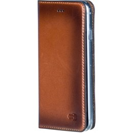 afbeelding van Senza Desire Leather Booklet Apple iPhone 5/5S/SE Burned Cognac