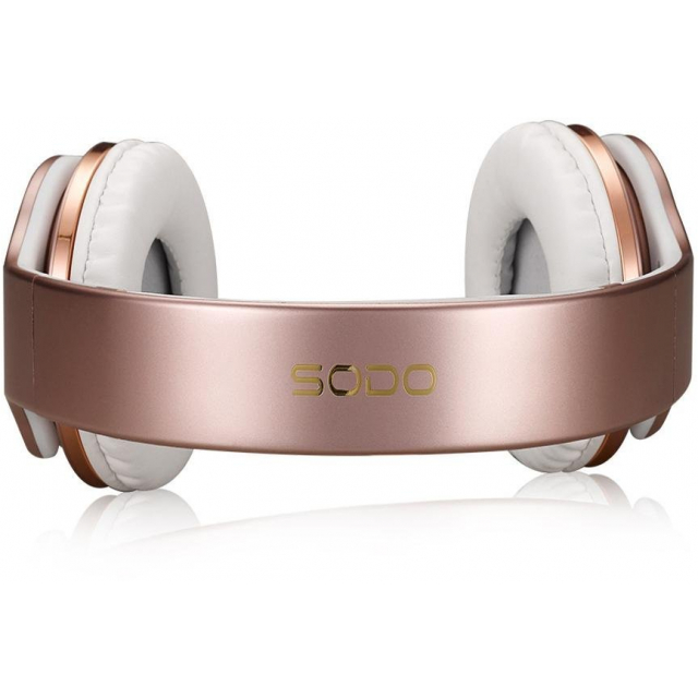 Sodo On Ear Bluetooth HeadsetSpeaker Pink